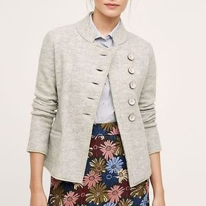 Anthropologie Military Sweater Jacket XS